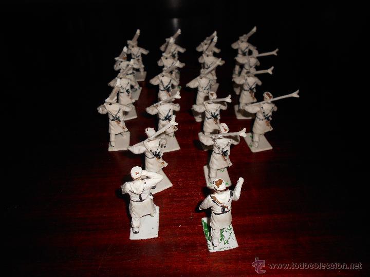 Figuras de Goma y PVC: CUERPO DE ESQUIADORES TROPA DE MONTAÑA DIORAMA REAMSA GOMARSA 20 FIGURAS COMPLETO DIFICIL - Foto 5 - 47223209