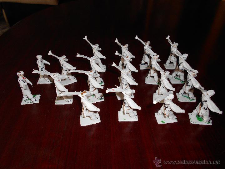 Figuras de Goma y PVC: CUERPO DE ESQUIADORES TROPA DE MONTAÑA DIORAMA REAMSA GOMARSA 20 FIGURAS COMPLETO DIFICIL - Foto 6 - 47223209