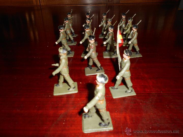 Figuras de Goma y PVC: 13 figuras de Paracaidistas. Plastico Pintado Gomarsa, Reamsa ,Soldis 1960-70s - Foto 3 - 51112572