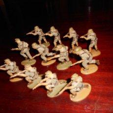 Figuras de Goma y PVC: BATALLON 12 DE AFRICAN KORPS ALEMANES MATCHBOX. SON DE PLÁSTICO Y DEL AÑO 1972. DIFICILES M. B.E.. Lote 47287981