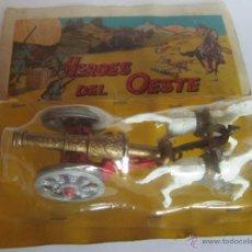 Figuras de Goma y PVC: HEROES DEL OESTE, CAÑON, EN BLISTER. CC. Lote 47442622