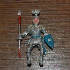 Figuras de Goma y PVC: EXCELENTE FIGURA PLASTICO GUERRERO CABALLERO MEDIEVAL A CABALLO. LAFREDO.. Lote 47552038