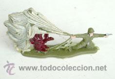 SOLDADO PARACAIDISTA ATERRIZANDO (Juguetes - Figuras de Goma y Pvc - Comansi y Novolinea)