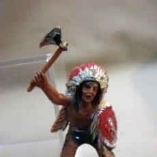 Figuras de Goma y PVC: FIGURA DE PLASTICO, JEFE INDIO, FABRICADO POR LAFREDO, 6 CM. Lote 47627668