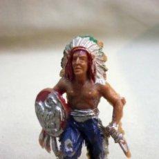 Figuras de Goma y PVC: FIGURA DE PLASTICO, JEFE INDIO, FABRICADO POR LAFREDO, 6 CM. Lote 47627758