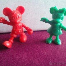 Figuras de Goma y PVC: PAREJA O LOTE DE 2 FIGURAS O PIEZAS DUNKIN COLECCIÓN DISNEY. MICKIE Y MINNIE MOUSE.. Lote 47710780