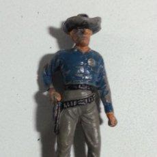 Figuras de Goma y PVC: JECSAN : FIGURA VAQUERO SHERIFF SERIE PALADINES DEL OESTE FAMILIA CARTWRIGHT SERIE BONANZA AÑOS 60. Lote 47744292