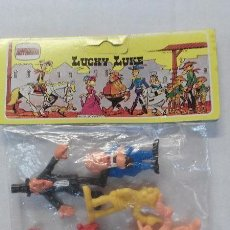 Figuras de Goma y PVC: FIGURAS -TOY PLASTIC - DE LUCKY LUKE - MARCA MOVOLINEA. Lote 47809139