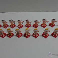 Figuras de Goma y PVC: 20 CUPIDOS DE PLÁSTICO PARA PASTELERIA. Lote 111474270