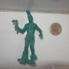 Figuras de Goma y PVC: FIGURA DE INDIO DE PVC PIE EN ALTO AÑOS 50/60. Lote 47890920