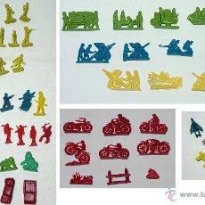 Figuras de Goma y PVC: LOTE 70 PIEZAS SERJAN-MONTAPLEX-AVION-SOLDADOS-TANQUES-CAÑONES-AMBULACIA-MOTOS-CAMION-BARCO-AÑOS 70. Lote 47899164