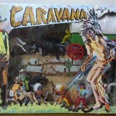 Figuras de Goma y PVC: CARAVANA DEL OESTE. CARRETA. AÑOS 70. CAJA ORIGINAL. Lote 47891473