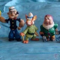Figuras de Goma y PVC: LOTE FIGURAS COMICS SPAIN, POPEYE, SANDOKAN, BLANCANIEVES, FELIX GATO, LUCAS, ARDILLAS. Lote 47942941