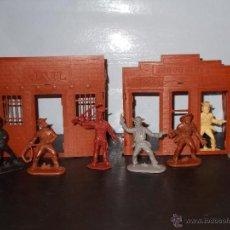 Figuras de Goma y PVC: CÁRCEL BANCO DODGE CITY INDIO DOMPLAST COWBOYS/VAQUEROS MONOCOLOR JEAN IDEAL JECSAN CITY.OESTE.PTOY. Lote 47975954