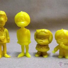 Figuras de Goma y PVC: 6 FIGURAS DE PLASTICO, SERIE MAFALDA, AMARILLO PLATANO, PREMIUM, 1980S. Lote 48008411