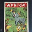 Figuras de Goma y PVC: CARTEL DOBLE DE PUBLICIDAD ARCLA - AFRICA SALVAJE AÑOS 50 - CON TEXTO POR DETRAS - PERFECTO. Lote 48009340