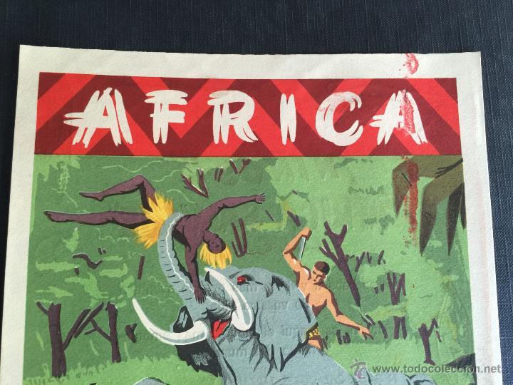 Figuras de Goma y PVC: Cartel doble de publicidad ARCLA - Africa salvaje años 50 - Con texto por detras - Perfecto - Foto 4 - 48009340