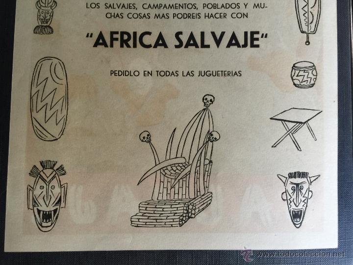 Figuras de Goma y PVC: Cartel doble de publicidad ARCLA - Africa salvaje años 50 - Con texto por detras - Perfecto - Foto 5 - 48009340