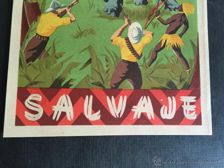 Figuras de Goma y PVC: Cartel doble de publicidad ARCLA - Africa salvaje años 50 - Con texto por detras - Perfecto - Foto 7 - 48009340