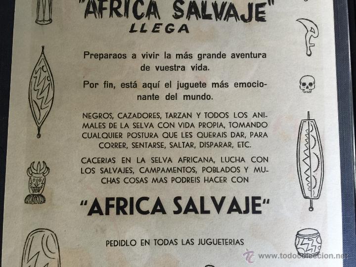 Figuras de Goma y PVC: Cartel doble de publicidad ARCLA - Africa salvaje años 50 - Con texto por detras - Perfecto - Foto 10 - 48009340
