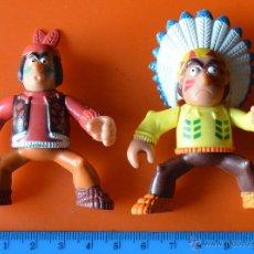 Figuras de Goma y PVC: 2 INDIOS CON BRAZOS ARTICULADOS . Lote 48125991