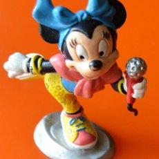 Figuras de Goma y PVC: MINNIE MOUSE - CANTANTE - CON MICROFONO - BULLY - WALT DISNEY - 1988. Lote 48126130
