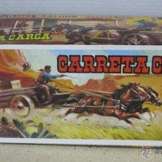 Figuras de Goma y PVC: CAJA VACIA DE CARRETA CARGA. Lote 48220487