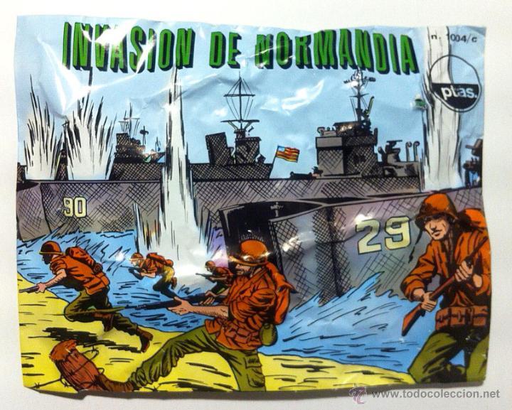SOBRE MONTAPLEX - HOBBY PLAST Nº 1004/C INVASIÓN DE NORMANDIA - CON EL NÚMERO IMPRESO!!! - CERRADO (Juguetes - Figuras de Goma y Pvc - Montaplex)