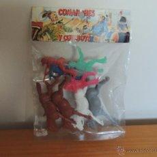 Figuras de Goma y PVC: BOLSA DE COMANCHES Y COWBOYS. Lote 48317653