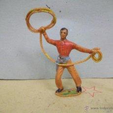 Figuras de Goma y PVC: FIGURA VAQUERO COMANSI - VAQUERO DE COMANSI ANTIGUO. Lote 48327712