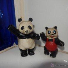Figuras de Goma y PVC: LOTE DE ANIMALES OSOS PANDA PAREJA COMICS SPAIN AÑOS 80. Lote 48460732