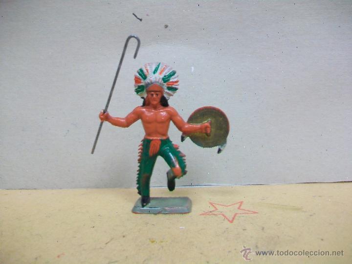 JEFE INDIO STARLUX PLASTICO NO PECH REAMSA JECSAN LAFREDO COMANSI (Juguetes - Figuras de Goma y Pvc - Starlux)