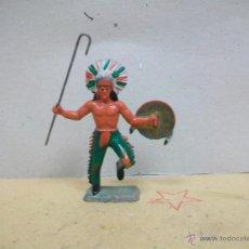 Figuras de Goma y PVC: JEFE INDIO STARLUX PLASTICO NO PECH REAMSA JECSAN LAFREDO COMANSI. Lote 48520605
