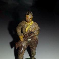 Figuras de Goma y PVC: JECSAN : FIGURA VAQUERO COWBOY SERIE OESTE EN GOMA , AÑOS 50 ORIGINAL. Lote 48553981