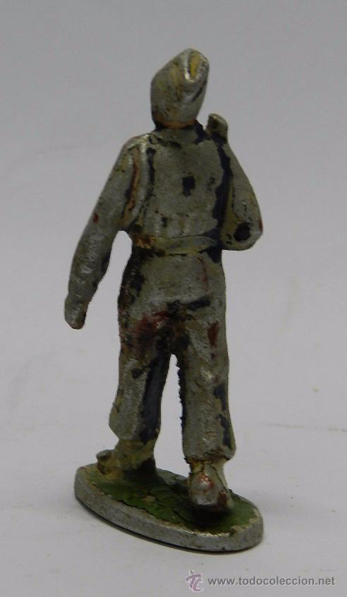 Figuras de Goma y PVC: FIGURA DE MILITAR DE ALUMINIO POSIBLEMENTE QUIRALU, TAL COMO SE VE EN LAS FOTOGRAFIAS PUESTAS. - Foto 2 - 48569692