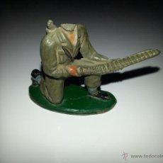 Figuras de Goma y PVC: PECH : SOLDADO AMERICANO MARINE SERVIDOR AMETRALLADORA , AÑOS 50 GOMA. Lote 48661122