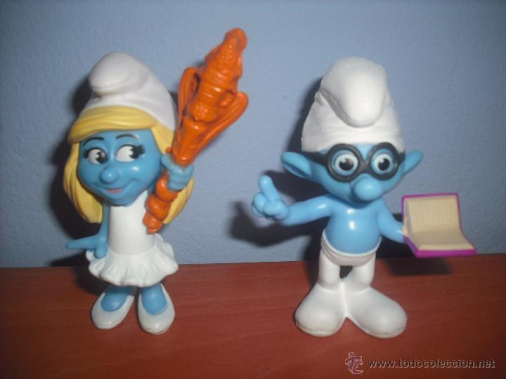 Figuras de Goma y PVC: Pitufina y Pitufo Sabio en PVC - SMURF - MCDONALDS - EN PERFECTO ESTADO - SMURFS - Foto 4 - 48692499