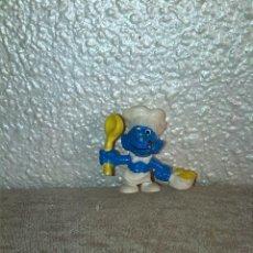 Figuras de Goma y PVC: PITUFO COCINERO MUÑECO FIGURA PVC. Lote 47043485