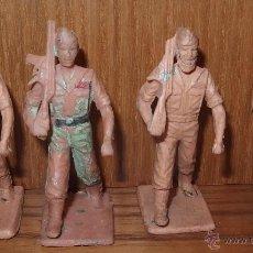 Figuras de Goma y PVC: 4 LEGIONARIOS DE REAMSA,AÑOS 60. Lote 48736136
