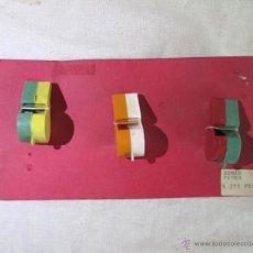 Figuras de Goma y PVC: 3 PITOS SILBATOS PLÁSTICO EN MUESTRARIO AÑOS 70-80. Lote 48741098