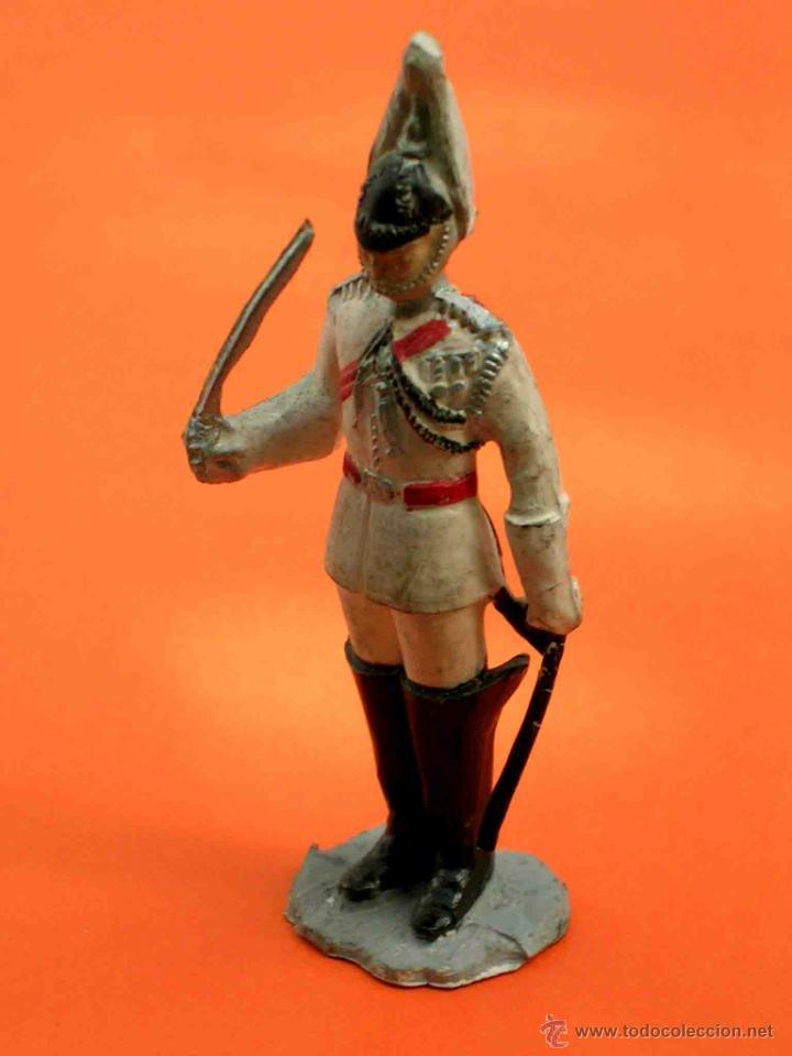 Figuras de Goma y PVC: Figura Soldado, fabricado en goma, Pech, original años 60. - Foto 2 - 48746020