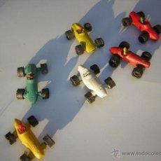 Figuras de Goma y PVC: LOTE SEIS COCHES AÑOS SESENTA. Lote 118127980
