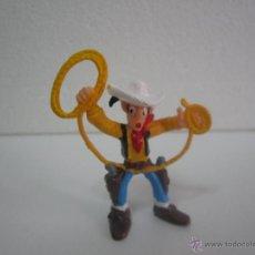 Figuras de Goma y PVC: LUCKY LUKE CON LAZO FIGURA PVC GOMA PINTADO A MANO OESTE NOVOLINEA .. Lote 48884473