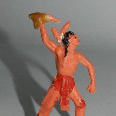 Figuras de Goma y PVC: INDIO DE PLASTICO, MIDE 6,5 CMS.. Lote 48973445