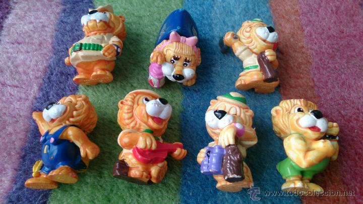 LOTE 7 FIGURAS LEONES HUEVOS KINDER (Juguetes - Figuras de Gomas y Pvc - Kinder)