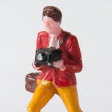 Figuras de Goma y PVC: FIGURA FOTOGRAFO EN PLASTICO DURO DE STARLUX. Lote 49011839
