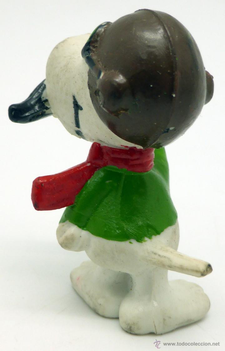 Figuras de Goma y PVC: Snoopy motorista gafas bigote goma sin marca años 80 - Foto 2 - 49071320