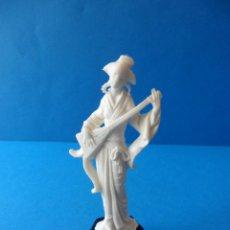 Figuras de Goma y PVC: BONITA FIGURA DE CHINA CON INSTRUMENTO MUSICAL - CAFÉS MAURICE - AÑOS 60 - JECSAN. Lote 49233247