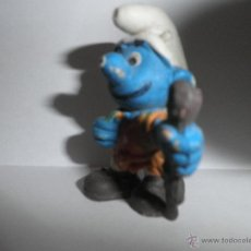 Figuras de Goma y PVC: ANTIGUO PITUFO MONTAÑERO, AÑOS 90. Lote 49277199