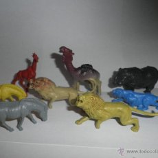 Figuras de Goma y PVC: LOTE DE 8 ANIMALES DE PLASTICO , ALGUNOS AÑOS 60 DE COMANSI O JECSAN. Lote 49330144